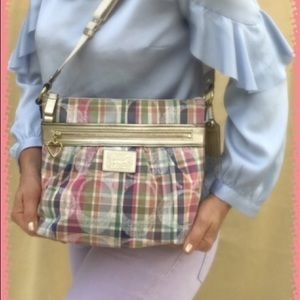 COACH SIGNATURE CROSSBODY/MULTICOLOR/PLAID/MADRAS